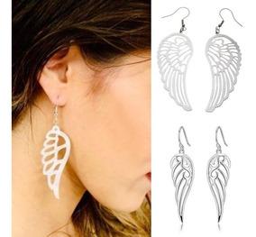 Nuevo 1,8cm pendientes con alas en plata Wings Earrings aretes ala de ángel