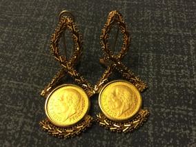 09c242545e4e Aretes Con Monedas Chinas - Aretes Oro en Mercado Libre México