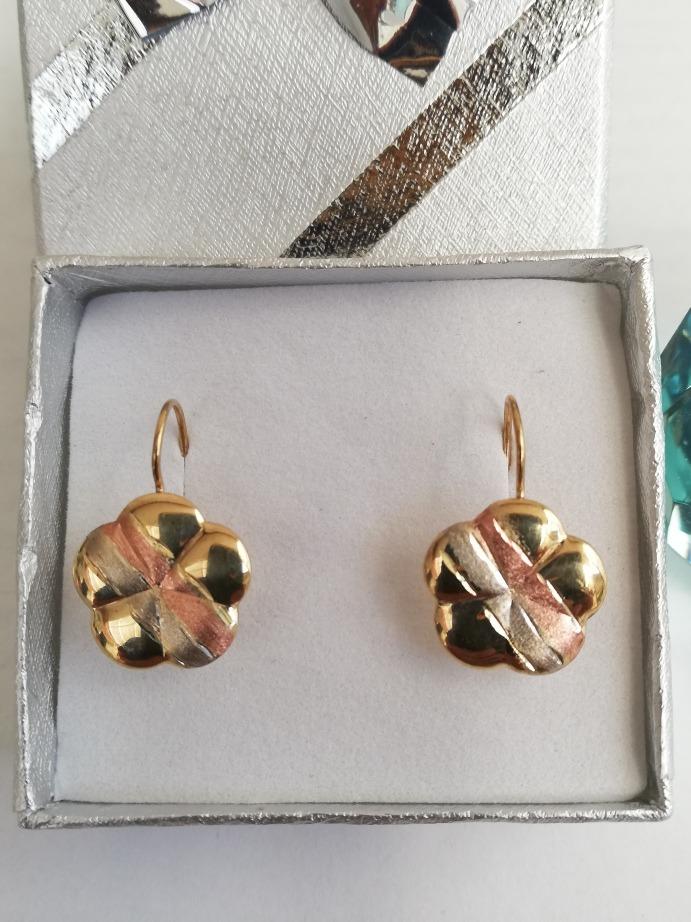 reloj 4e2b1 1779d Aretes Oro Florentino 10k ( Hermosas Flores)