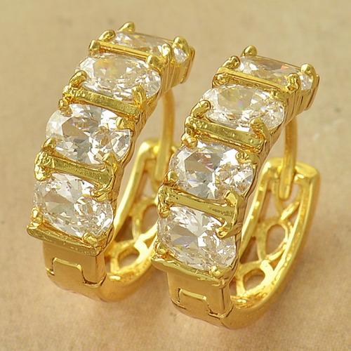 aretes oro laminado 10k 14mm de diámetro 4.5 gramos