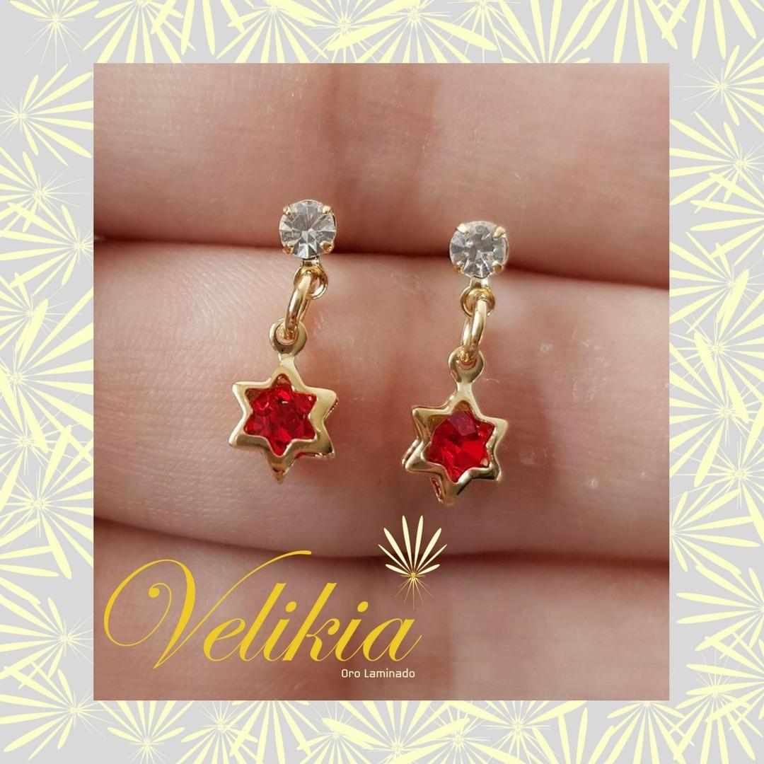 0f6d100b799f Aretes Oro Laminado 18 Kilates En Forma De Estrella -   50.000 en ...