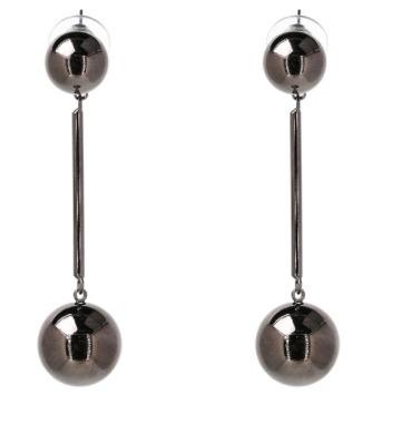 aretes-pendientes dos esferas, envío gratis¡¡¡