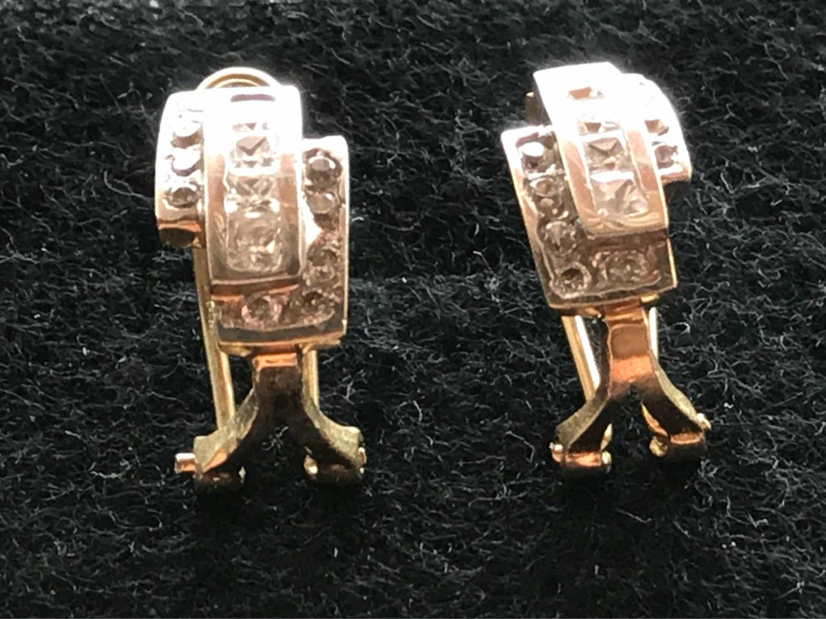 7bafe125bd5f aretes pendientes oro blanco 10k zirconias pequeños 1.6 cm. Cargando zoom.