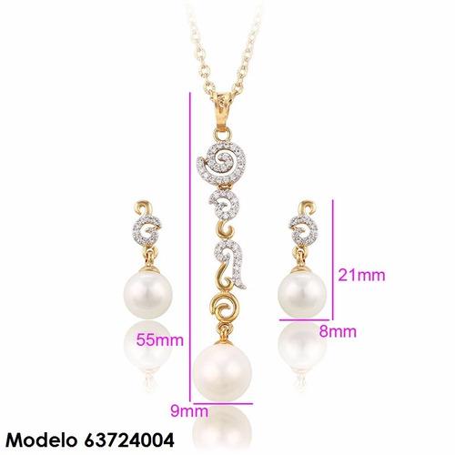 aretes perla oro