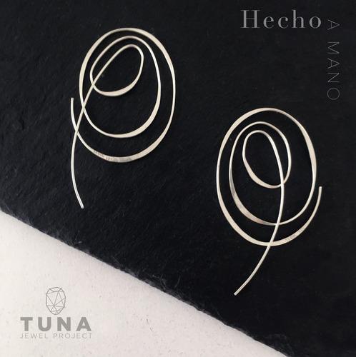 aretes * plata 925 * tuna * garabato doble * envío gratis