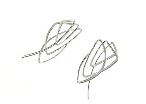 aretes * plata 925 * tuna * garabato triangulo* envío gratis