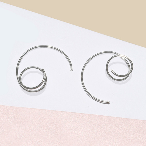 aretes* plata 925 * tuna jewel * espiral * envío gratis