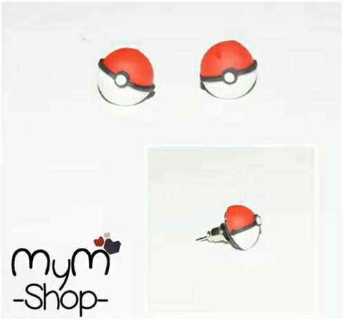 aretes pokemon pokebola geek gamer anime kawaii accesorios