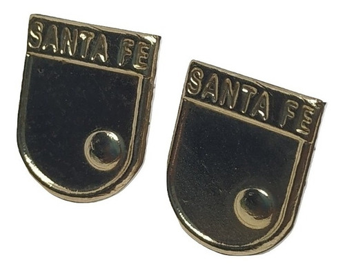 aretes topitos independiente santafe  oro joya 00082