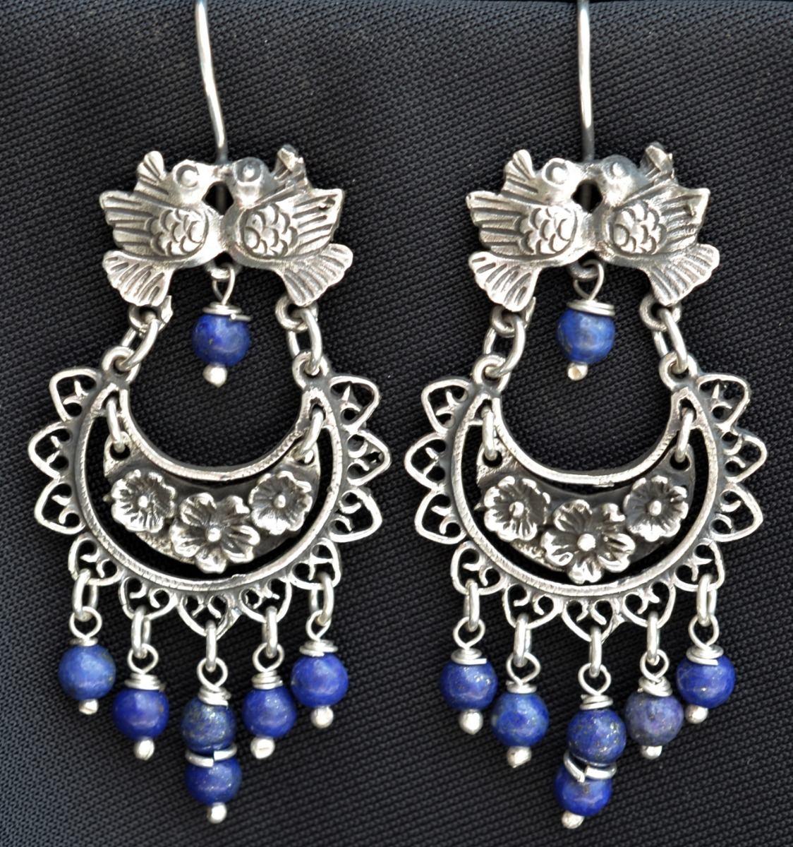 169357d27aa6 Aretes Vintage Frida Kahlo Plata 925 Taxco Joyeria Artesanal