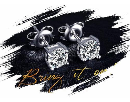 aretes y/o topitos en plata 925 para mujer - zircon