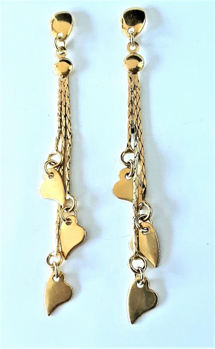 7992a949ea6f Vender uno igual · aretes zarcillos largos oro 18k deley joyas laminado. Cargando  zoom.