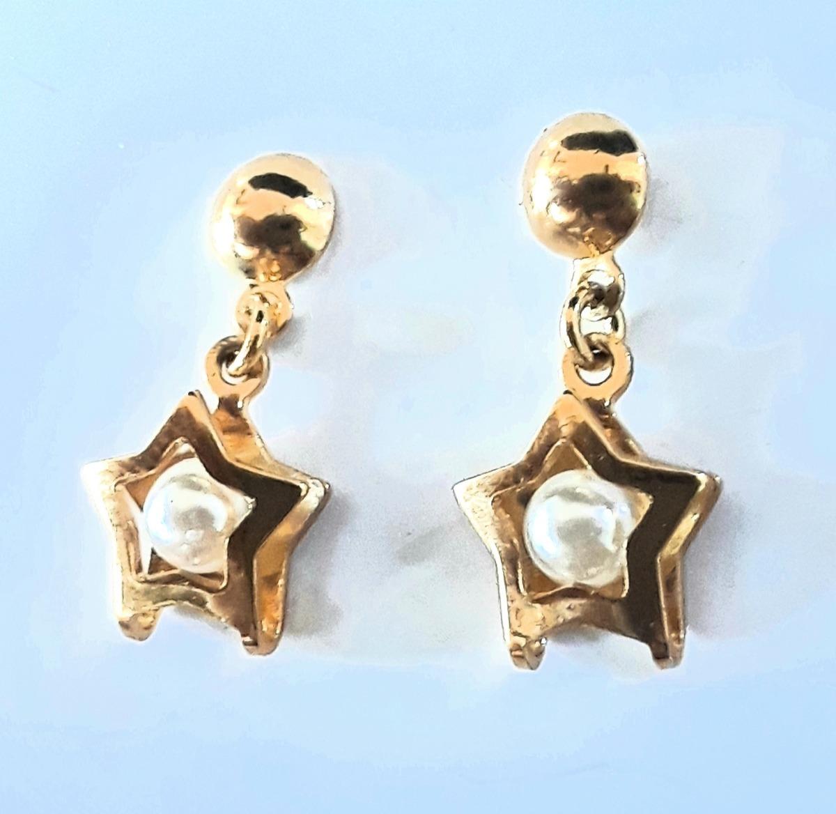 fc12a60e723e Vender uno igual · aretes zarcillos topos perla oro 18k deley joyas  laminado. Cargando zoom.