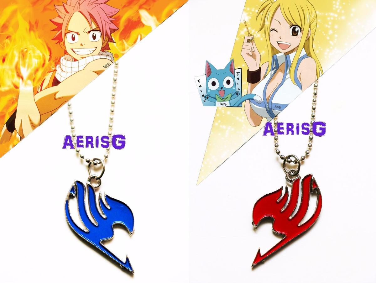 Arg Collar Simbolo Fairy Tail Unico Doble Vista Rojo Y Azul