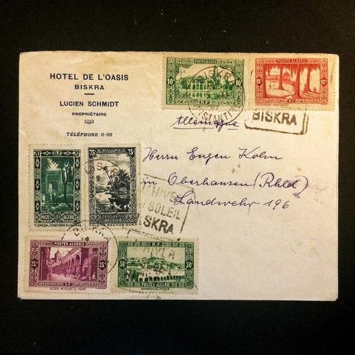 argélia (africa): extraordinário envelope (1937)