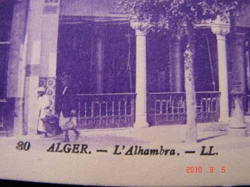 argelia - alger - l' alhambre - muy antigua postal.