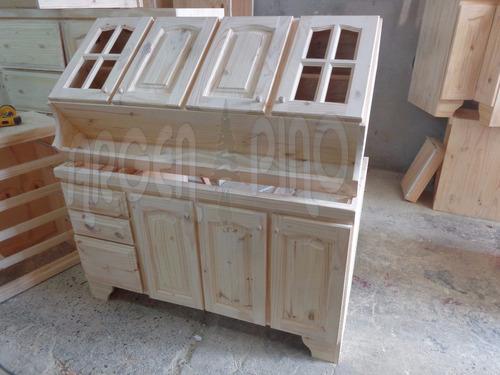 argen pino combo 1,40 alacena + bajomesada 1,40 fabrica