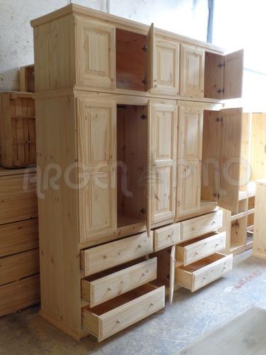 argen-pino ropero placard con baulera 2,00 x 2,40 x 0.55