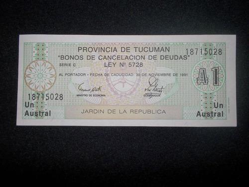 argentina, 1 austral 1991 - tucuman - (unc)