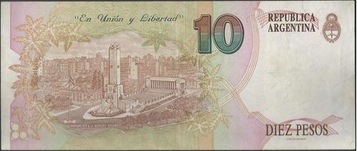 argentina 10 pesos nd1993 serie d p342b