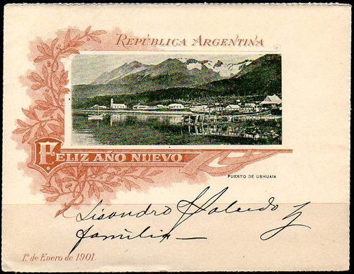 argentina 1900. entero sobre carta de 5cts. con vista dentro
