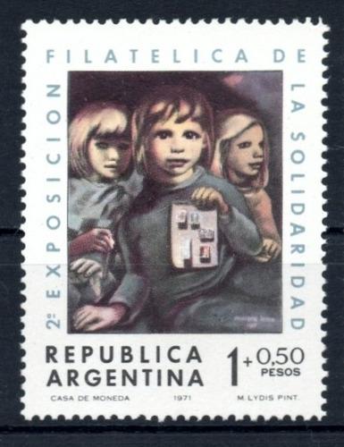 argentina 1971 gj 1583** me 910 mint filatelia solidaria a