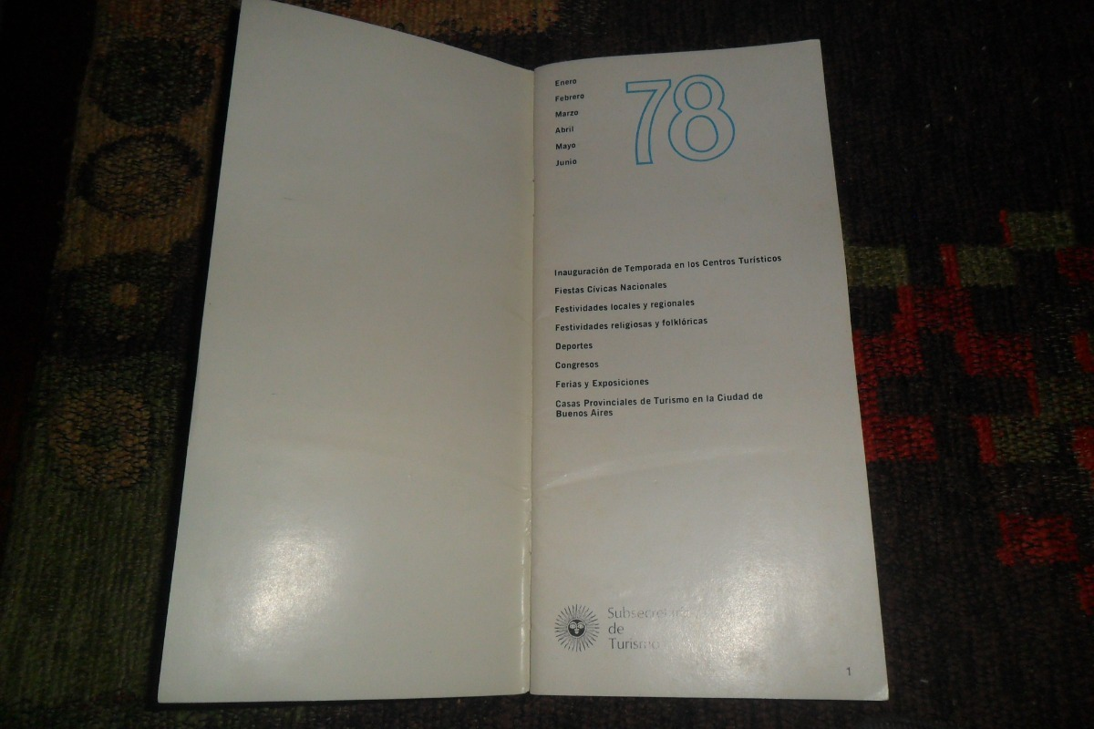 Calendario Enero 1978.Argentina 1978 Calendario Turistico Mundial Futbol 199 00