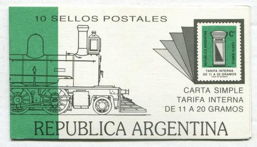 argentina 1987 gj 2345 carnet completo mint