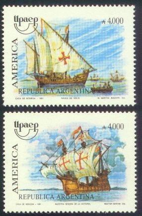 argentina 1991(1854-5) viajes del descubrimiento