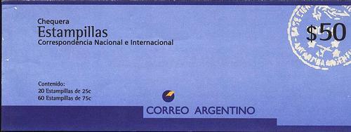 argentina 1995 - caderneta de 50 pesos - llenas
