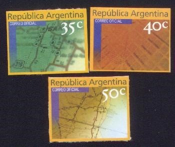 argentina 1999(2258a-60a) mailing papel mate