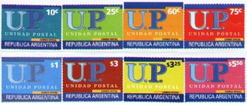 argentina 2001 - u.p., autoadhesivos en papel brillante