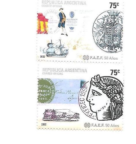 argentina 2002(2523-24) federacion entidades filatelicas