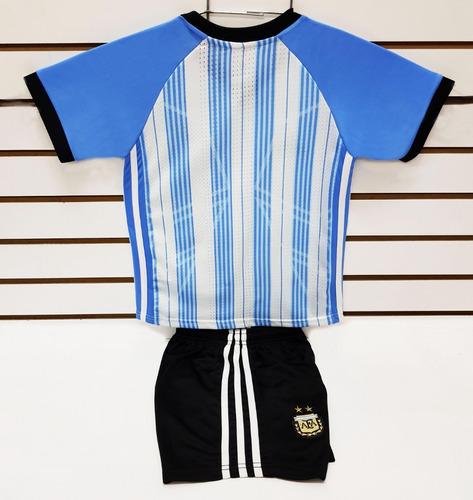 argentina 2018 jersey con short entrenamiento niño