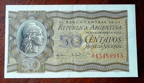 argentina 50 centavos 1950 s/circular la plata fraganplat