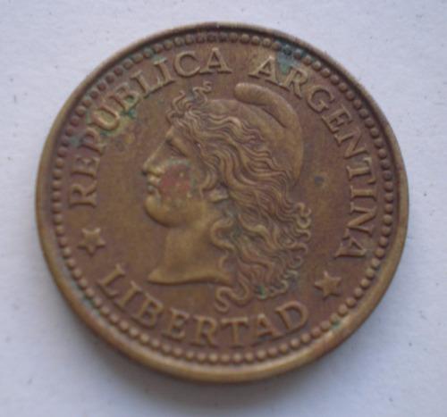 argentina 50 centavos año 1972 moneda de bronce km# 68