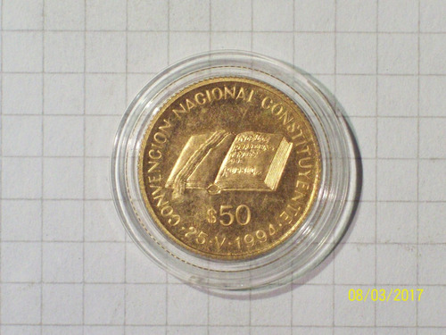 argentina 50 pesos oro convencion constituyentes 1994 8 gr e