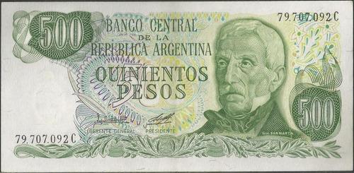 argentina 500 pesos nd1977-82 serie c p303b