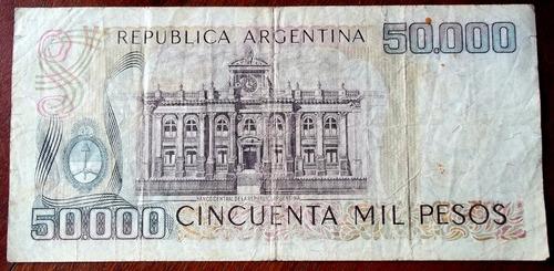 argentina 50000 pesos ley 18188 1979 serie a la plata