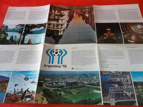 argentina 78 folleto publicitario en inglés excelente
