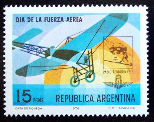 argentina aviones, sello gj 1739 fuerza aérea 76 mint l5074
