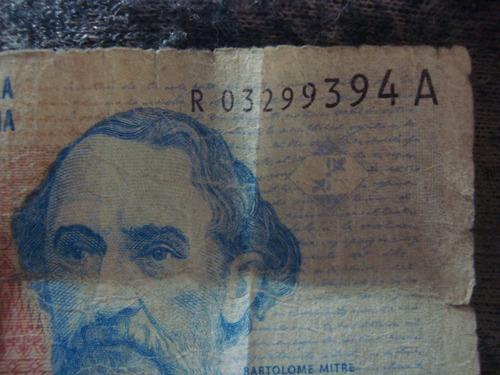 argentina billete dos pesos reposición s. a redrado fellner