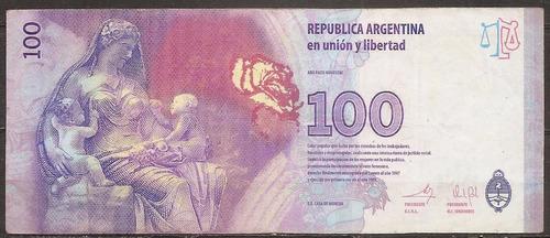 argentina billete evita 100 pesos reposición letra a