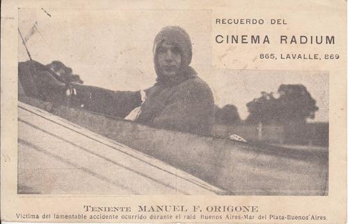 argentina cinema radium recuerdo aviador manuel origone raro