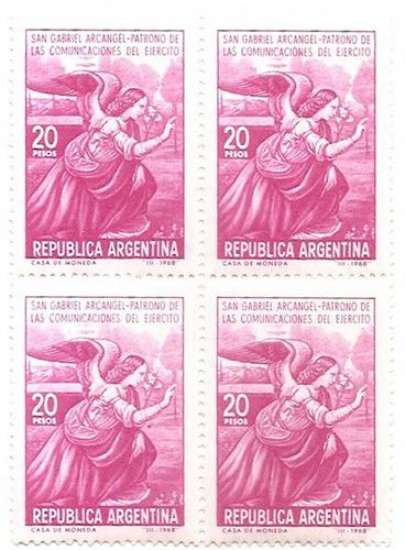 argentina cuadrito san gabriel arcangel $ 20,00 año 1968