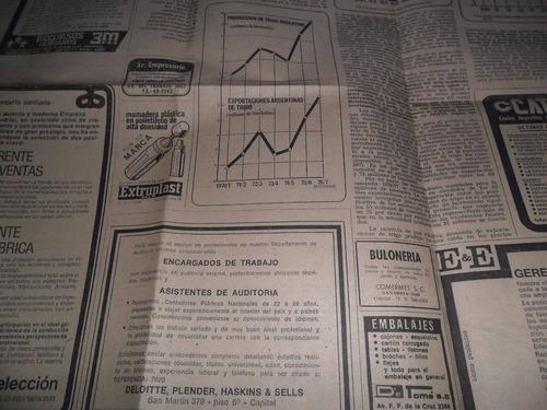 argentina cuadro triguero mundial trigo cosecha 1976 export