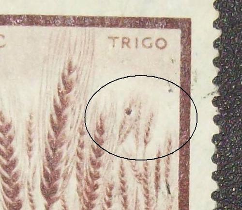 argentina flora, sello gj 1044c error insecto usado l0671