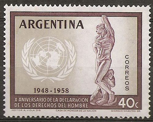 argentina gj 1116 derechos del hombre 595 año 1959