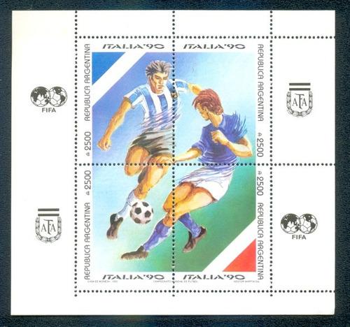 argentina gj hb 84. block mint copa mundial futbol italia 90
