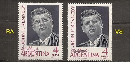 argentina j f kennedy 685 gj 1276 año 1964 filigrana ra